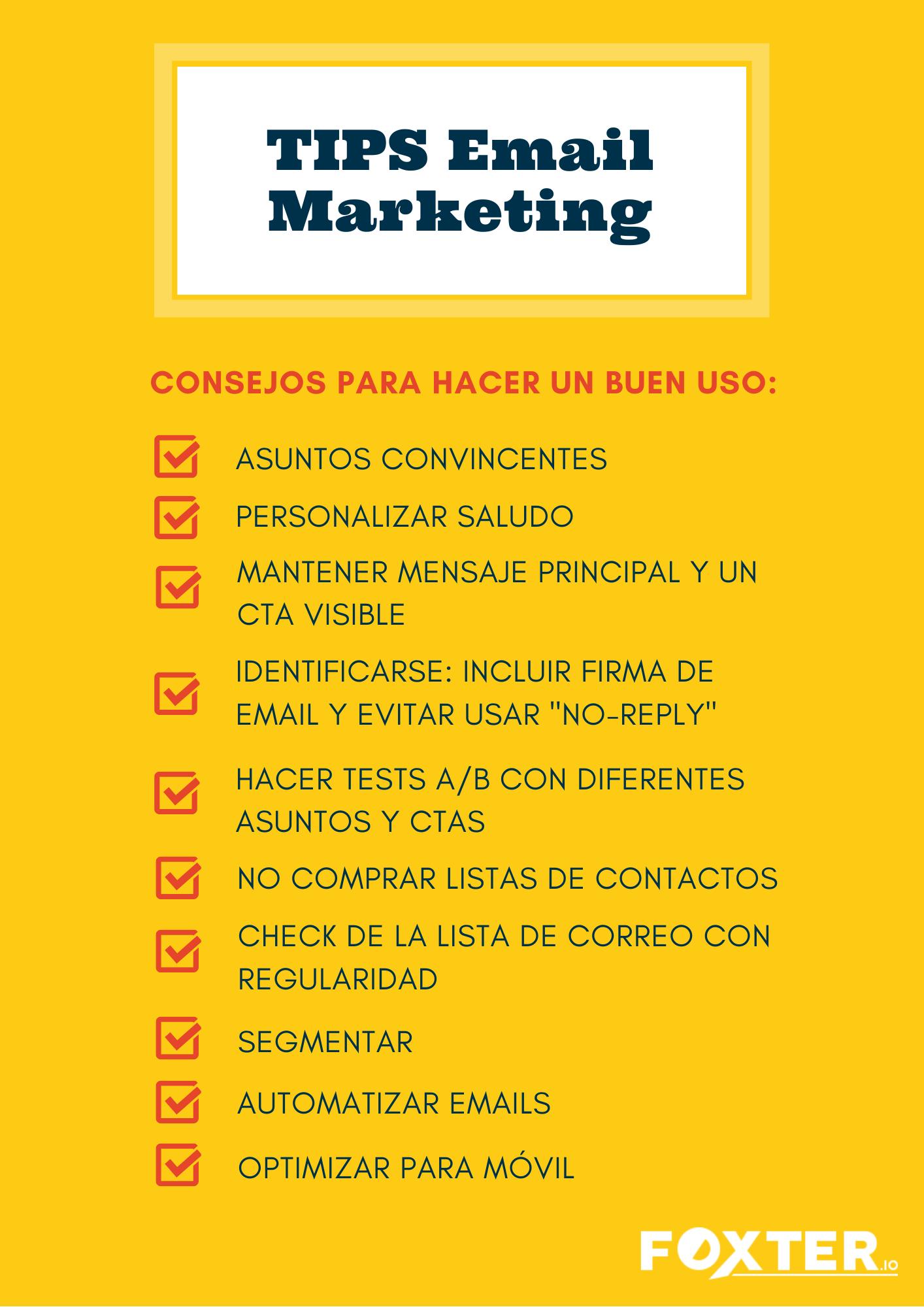Consejo uso correcto Email Marketing